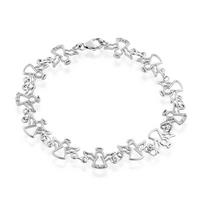 $17.95Diamond Accented Angel Link Bracelet in Sterling Silver 7.5