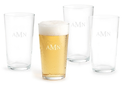 4 Monogrammed Standard Pint Glasses