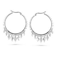 $19Sterling Silver 0.10 Carat Diamond Dangle Hoop Earrings