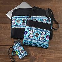 Hmong Embroidered Computer Travel Kit