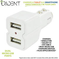 Trident Universal USB Car Charger for any tablet at Accessory Geeks