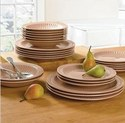 Brylane Home 24-Piece Stoneware Tabletop Set