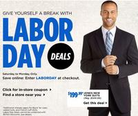 Men's Wearhouse Labor Day Sale:Dress shirts from $35, pants from $60, more