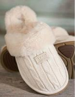 Women's Cozy Knit UGG Sheepskin Slippers