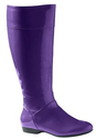 Comfortview Woman's Wide Calf Patent Rain Boots