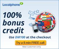 Buy $10 Get $5for Localphone New Users (Or Buy $10 get $10 for Students), Cheap International Calls