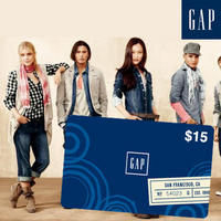 $7.50for $15 Gap Gift Card  @ Saveology