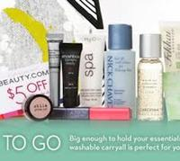 Sample-filled travel bag with any $100 purchase @ Beauty.com