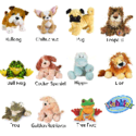 Webkinz Plush Animal Toy 10-Pack