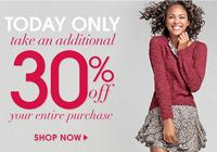 Today only!Wet Seal Sale: Extra 58% off clearance, 30% off regulary-priced items