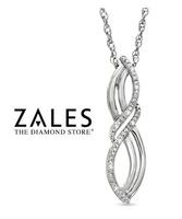 Diamond Accent Double Looped Infinity Pendant in Sterling Silver