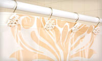 Home Dynamix Damask-Print  Shower Curtain Set. Five Colors Available.