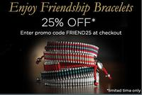 25% OffFriendship Bracelets @ Links of London