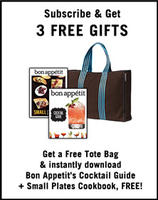 3 Free Giftswith 1 year of Bon Appetit Subscription