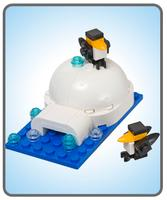 FREEFree LEGO Penguins & Igloo Mini Model in LEGO stores