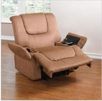 Brylane Home Plush Extra Wide Recline with Storage Arms
