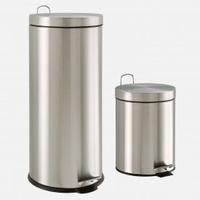 $27Neu Home 30 Liter Stainless Steel Wastecan with Bonus 5 Liter
