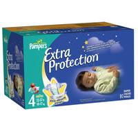 $21.69 Pampers Extra Protection Diapers Big Pack Size 4 Unit Count 80