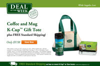 $9.9812pk K-Cup + Travel Tumbler + Tote @ Green Mountain Coffee