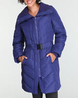 Kenneth Cole Reaction Women's Belted Long Down Coat