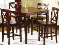 174 Jaclyn Smith 5Piece Mahogany HighTop Dining Set Dealmoon
