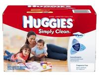 $8.59 Huggies Simply Clean Fragrance Free Baby Wipes Refill, 600 Count