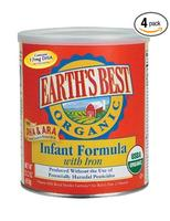 Earth's Best Organic (Infant Formula with Iron, DHA & ARA, 4 Pack)