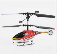 2 Channel Metal/Plastic Mini RC Helicopter - Red
