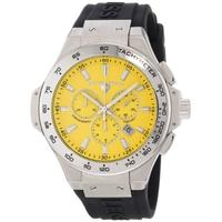 Swiss Legend Men's 40051-07-R Maverick Chronograph Yellow Dial Black Silicone Watch