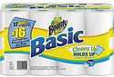 $11.99 Bounty Basic Giant 1-Ply Paper Towel Roll 12-Pack