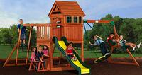 $599 Backyard Discovery Wooden Swing Set