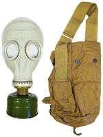Soviet Russian Civilian Gas Mask Model Russian GP-5 w/ Cloth Shoulder Bag (Haversack), NBC Filter (No Expiration)