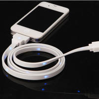 MOKIS White USB Data Cable for iPhone/iPad/iPod LED Luminous