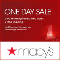 Macy's One Day Sale Up to 65% off sitewide