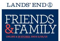 30% Off Sitewide @ Lands' End Friends and Family Sale