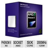AMD Phenom II X6 1055T Processor  2000 Bus Speed, 3072 L2 Cache, Socket AM3, 125W