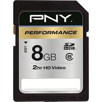 $3.99 PNY 8GB Secure Digital High Capacity (SDHC) Class 6 Memory Card
