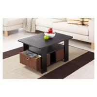 Fresno Collection Coffee Table with Removable Fabric Storage Box