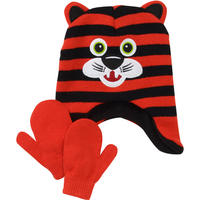 $4 Boys' Critter Hat and Mittens Set