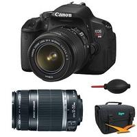 Canon EOS Digital Rebel T4i 18MP SLR Camera 18-55mm & 55-250mm Bundle