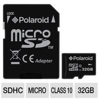 $19.99 Polaroid 32 GB CL10 micro SDHC Flash Memory Cards for Tablet PCs and Smartphones