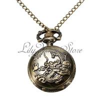 $2.97 Vintage Bronze Dragon Pocket Watch