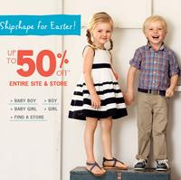 Up to 50% OFF entire site + extra 20% off @ OshKosh B'Gosh