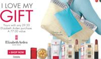 A free 5-pc. beauty giftwith any $29.50 Elizabeth Arden purchase @ Carson's
