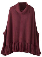 Coldwater Creek Women's Knitted Sweater Poncho
