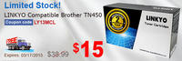 LINKYO Compatible Brother TN450 Black Toner Cartridge