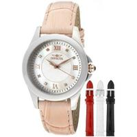 Invicta Women's Angel Mother-Of-Pearl Dial Crystal Accented Interchangeable Straps Watch