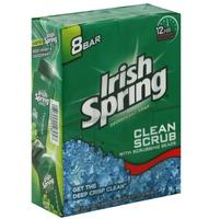 $17.856 Pack Irish Spring Deodorant Soap 8 Bars of 3.75oz