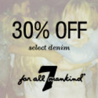30% Off7 For All Mankind:精选服饰30% Off + 免运费