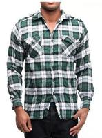 Men's Twisted Crinkle Flannel Shirt